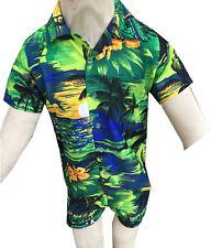 bd1d59ad6 Hawaiian Shirt Suits Shorts Party Boys Girls Kids Children palm tree Fancy  dress