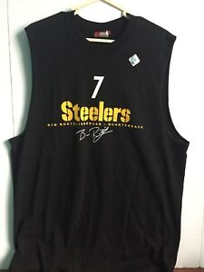 Image is loading Pittsburgh-Steelers-Black-Ben-Roethlisberger-Muscle-Shirt -Size- 03bbf7f3b