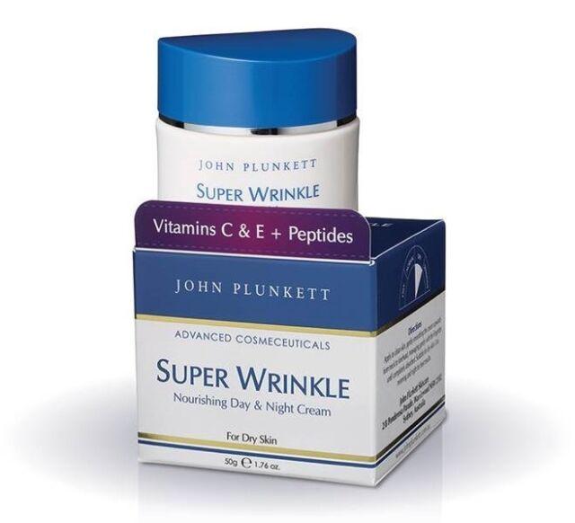 John Plunkett Super Wrinkle Cream 50G Nourishing Day Night Cream For Dry Skin