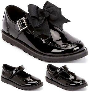 KIDS GIRLS FLAT BLACK BACK TO SCHOOL