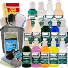 Professional Car Detailing Kit  Wash Shine Protect Tools  24 PC 16 oz Bottles