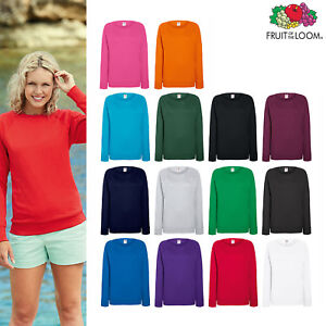 40118c9d Fruit of The Loom Women's Lightweight Raglan Sweatshirt - Lady-fit ...