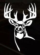 Deer Hunting Whitetail  Funny Car Truck Window White Vinyl Decal Sticker