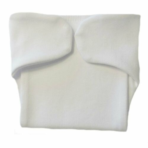 Opens Flat 4 Preemie and Newborn Sizes Unisex Baby White Diaper Cover Nappy
