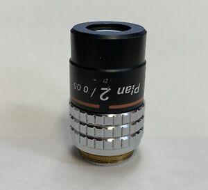 Nikon-CFN-Plan-2X-0-05-Microscope-Objective-Macro-Labophot-Optiphot-Photography