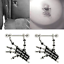 Pair 14G Skeleton Skull Hand Nipple Rings Steel Shield NippleRings Body Piercing