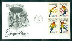 US-1698-A-FIRST-DAY-COVER-OLYMPIC-GAMES-LAKE-PLACID-NY-JULY-16-1976-ARTCRAFT