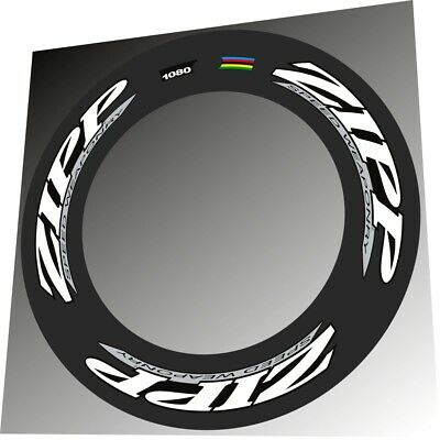 ZIPP 404 2012 SPEED WEAPONRY STYLE WHITE/&BLACK  REPLACEMENT RIM DECAL SET FOR 2