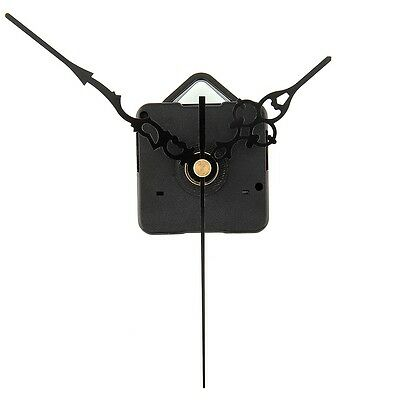 DIY By Yourself Quartz Clock Movement Parts Replacement with Black Hands