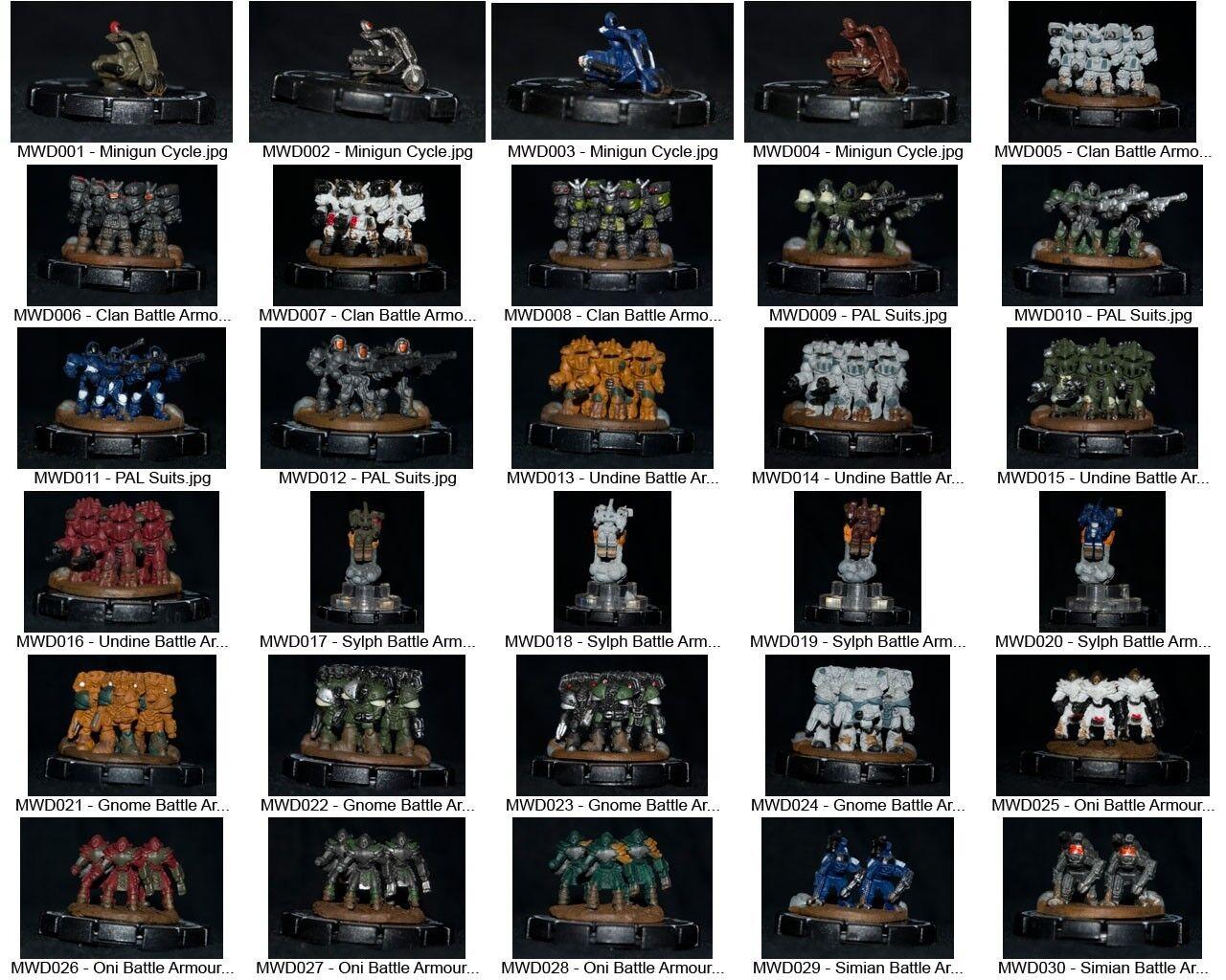 Mechwarrior dominación Colección Completa-todas las cifras, Todas Las Tarjetas
