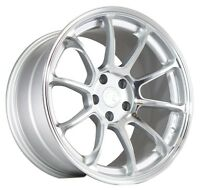 18x9 +15 18x10 +15 Aodhan Ah06 5x114.3 Silver Wheels Fit Ford Mustang Gt 5x4.5 on sale