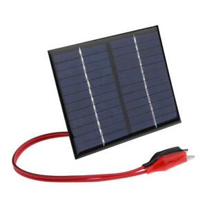 1-5W-12V-Solar-Panel-Cell-Polysilicon-Flexible-DIY-Power-Bank-Battery-Charger-US