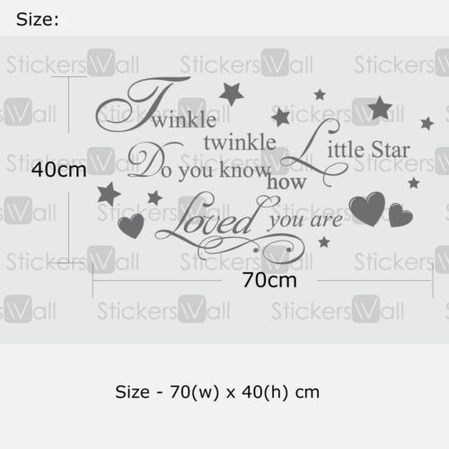 Twinkle Twinkle Little Star do you know how loved you are Wall Sticker Decal
