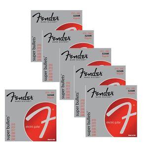 6-Pack-de-Fender-3250R-Nickel-Acier-Plaque-Bullet-END-Cordes-Guitare-10-46