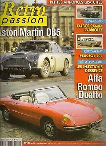 Retro Passion 188 Aston Martin Db5 Talbot Samba Cabriolet Alfa Spider Duetto 66 Adopter Une Technologie De Pointe