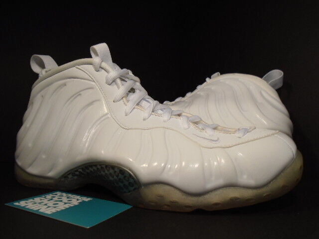 Nike Air FOAMPOSITE ONE 1 PENNY WHITEOUT WHITE OUT SILVER BLACK 314996-100 NEW 9