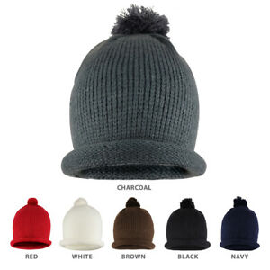 93db788e431 Winter Solid Color Roll Up Knit Beanie Hat with Pom Pom - FREE ...