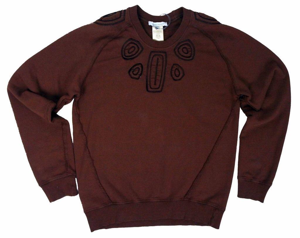 Pierre Balmain piping embroidery tee brown