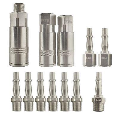 Air Line Hose Compressor Fitting Connector Release Set 1/4 Inch 3/8 Bsp 12pc Einfach Und Leicht Zu Handhaben