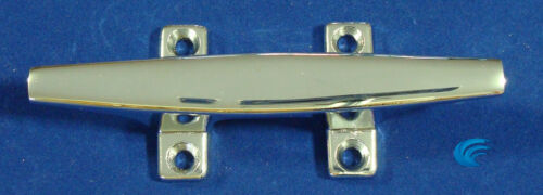 """4X Chrome 4.5/"""" CLEAT Boat Marine Dock Raft Anchor Line HQ Rope Holder Tie-Down"""