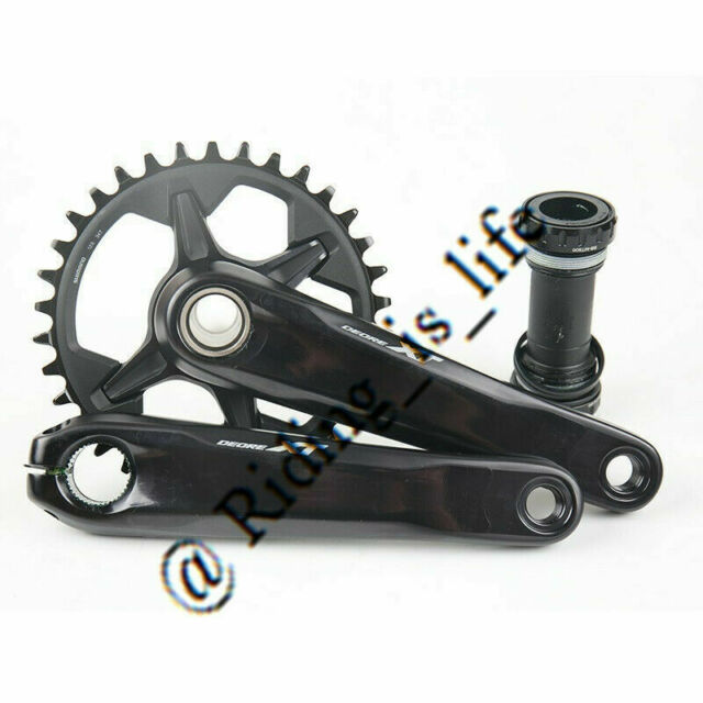 34T 175mm Mountain Bike Single Crankset Shimano Deore XT M8000