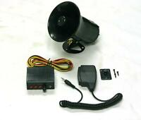 Car Warning Alarm Siren Horn Police Fire Loud Speaker Pa Mic System 3 Sound Tone
