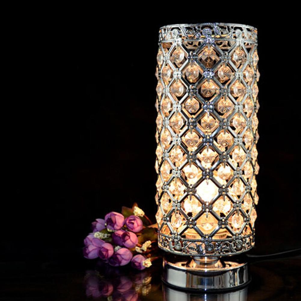 Kreativ Kristall Lampe Schlafzimmerlampe Nachttischlampe Wohnzimmer Wohndeko