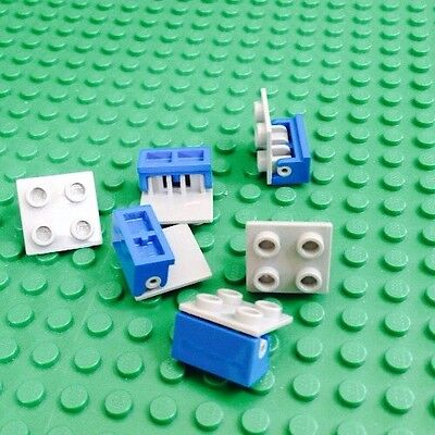 Grey /& White City 10X 1x2 Pivot Moving Parts Lot Of 10 Lego Hinges