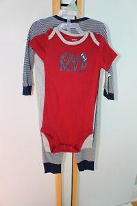 Carter/'s NWT 9M 12M Infant Boy 3pc MVP Little Jacket Hooded Pant Bodysuit Set