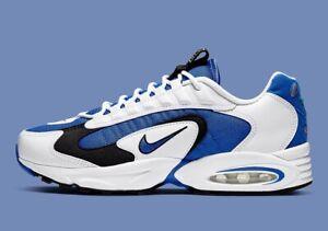 Nike AIR MAX 96 Triax Bianco Blu Nero Retrò UK 9 US 10 forza 1 90 95 OG 97 98