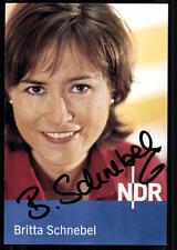 Britta Schnebel NDR Autogrammkarte Original Signiert ## BC 23854