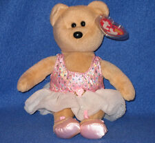 TY PRIMA the BALLERINA BEAR  BEANIE BABY - MINT with MINT TAGS