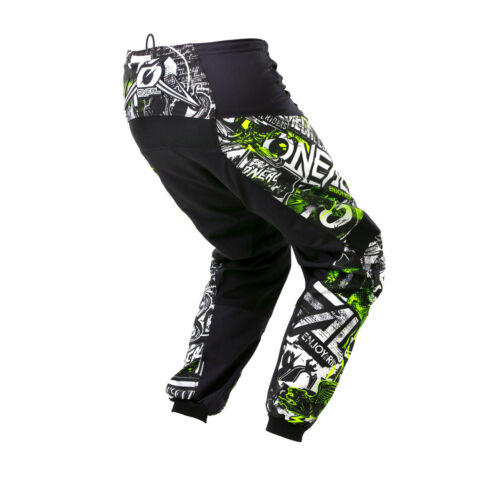 O/'neal Element Attack Youth Kinder MX DH MTB Pant Hose lang schwarz//weiß//gelb 20