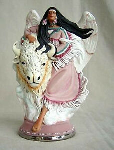 """Native Angel riding mustang ready to paint 8 1//2/"""" ceramic bisque"""