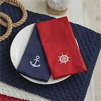 Napkin - Anchor Embroidered By Park Designs - Kitchen Dining - Nautical