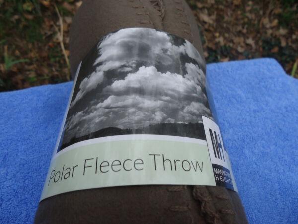 "Ijverig Manhattan Heights Polar Fleece Throw Brown 50 X 60"" Nip Professioneel Ontwerp"
