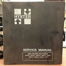 Hyster Service Manual for W40XT, T5XT, W60-80XT, B60-80XT, C60-80XT, 1993-1999