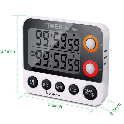 LCD Digital Küchenwecker Kurzzeitmesser Küchen Timer mit Hanger Magnet Eieruhr