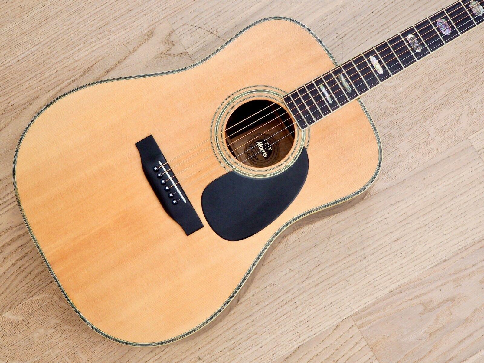 1970s T.F. Morris W-60 Vintage Dreadnaught Acoustic Guitar w  Case, Near Mint