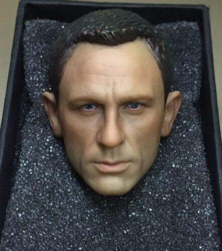 1//6 James Bond 007 Daniel Craig Head Sculpt For Skyfall Spectre Hot Toys Phicen