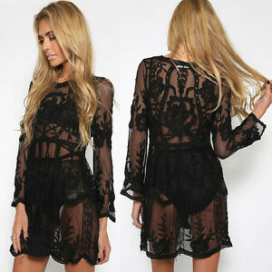 Fashion-Women-Bathing-Suit-Lace-Crochet-Bikini-Swimwear-Cover-Up-Beach-Dress