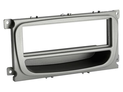 Ford Mondeo 07-14 1-DIN Autoradio Einbauset Adapter Kabel Radioblende silber