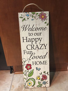 Image Is Loading Welcome To Our Happy Crazy Home Country Wall