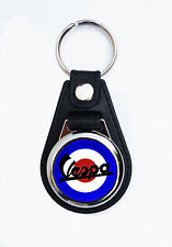 VESPA SCOOTERS FAUX LEATHER KEY RING / KEY FOB.CLASSIC VESPA SCOOTERS