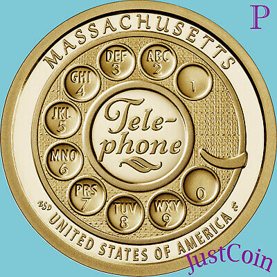 MA 2020-D AMERICAN INNOVATION MASSACHUSETTS TELEPHONE UNCIRCULATED DOLLAR