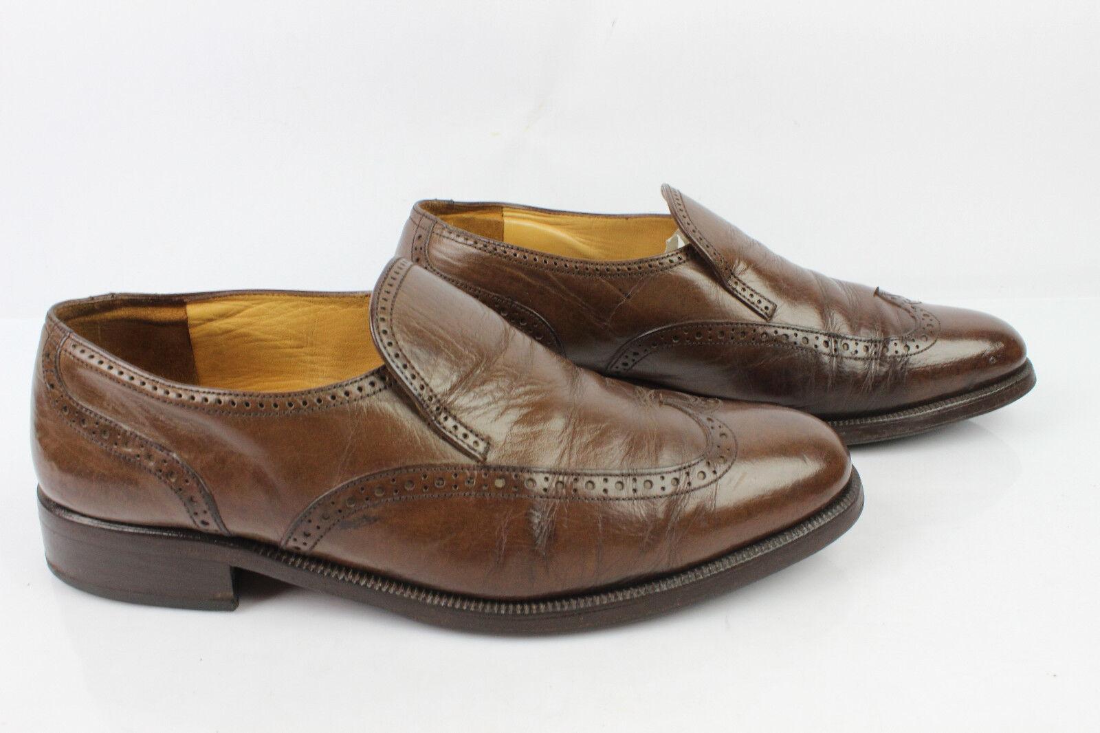 Vintage Mokassiner BALLY France Monsieur alle Leder Leder Leder braun t 42 guter Zustand 4fa6e3