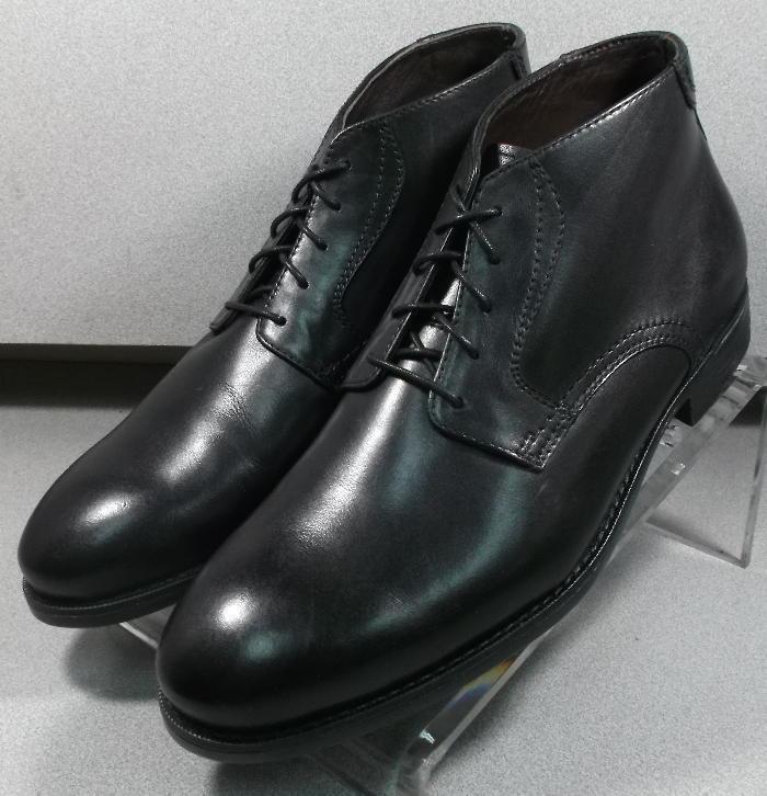 154827 esbt 50 Chaussures Hommes Taille 8.5 M Noir en Cuir à Lacets Bottes Johnston Murphy