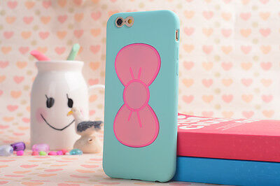 3D Cute Lovely Butterfly Bow Case Cover Stand Holder For Iphone 5 5S 6/6 Plus