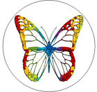 "PUZZLE BUTTERFLY Autism Awareness - 1"" Round Stickers"