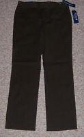 Chaps Dark Brown slimming Fit Casual Dress Pants Inseam 3 - 8 Petite 8p